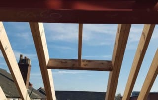 Structural steel beam allows a dormer extension to be formed