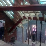 Structural Steel elements in roof & mezzanine