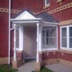 Porch in matching brickwork & detail