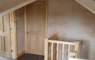 the existing landing is modified to accommodate the staircase to the loft conversion