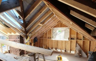 Intricate woodwork as the dormer loft extension is integrated with the main roof